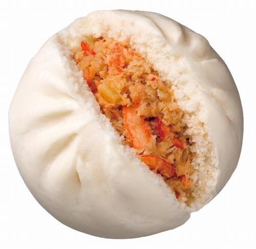 「特撰国産紅ズワイガニまん」は、甘味が特長の鳥取県境港産紅ズワイガニの... 贅沢素材の「ズワイ